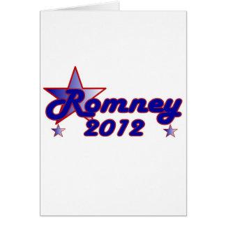 Romney 2012 Smooth Star Greeting Card