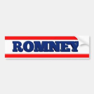 Romney 2012 Support Sticker Bumper Sticker