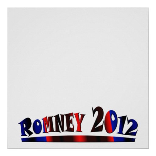 Romney 2012 - Write Your Own Text Poster