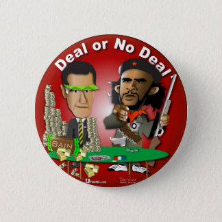 Romney and Che Obama 6 Cm Round Badge