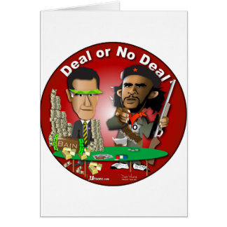 Romney and Che Obama Greeting Card