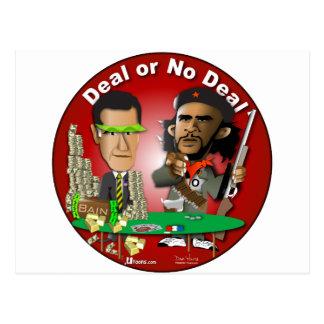 Romney and Che Obama Postcard