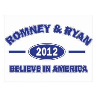 Romney And Ryan 2012 Postcard