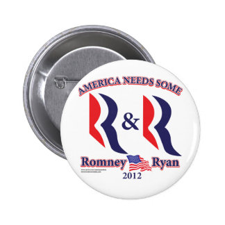 Romney and Ryan 6 Cm Round Badge