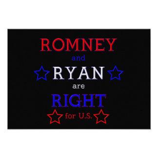 Romney and Ryan are Right for U S Custom Invitation