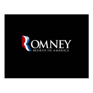 Romney - Believe in America - Postcard