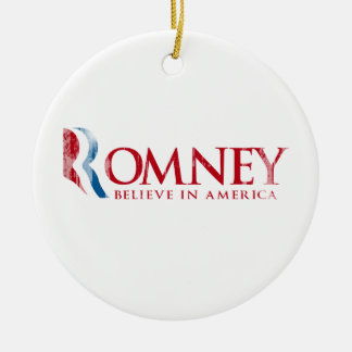 Romney - Believe in America (red) Christmas Ornament