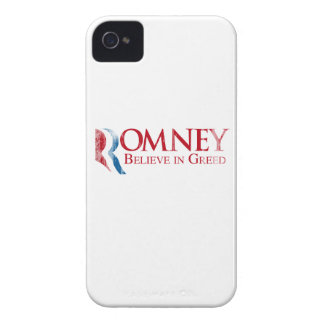 Romney -  Believe in Greed Faded.png iPhone 4 Cover