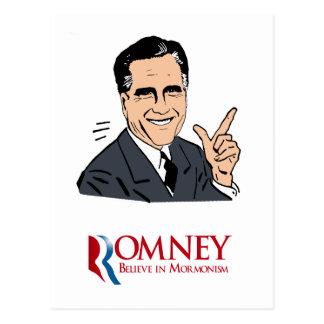 Romney - Believe in Mormonism Postcard