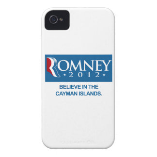 ROMNEY BELIEVE IN THE CAYMAN ISLANDS.png Case-Mate iPhone 4 Cases
