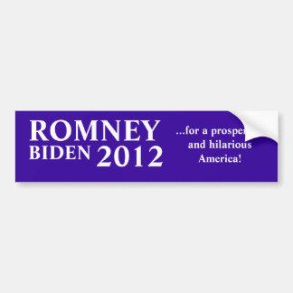Romney Biden 2012 Bumper Sticker