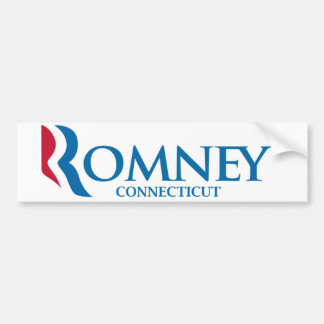 Romney Connecticut Bumper Sticker
