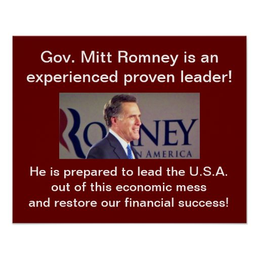 Romney Experienced Leader Poster