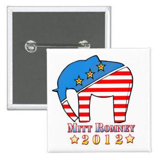 Romney for President 15 Cm Square Badge