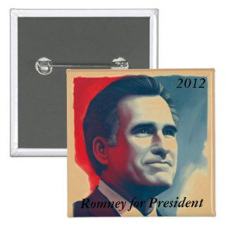 Romney for President 15 Cm Square Badge