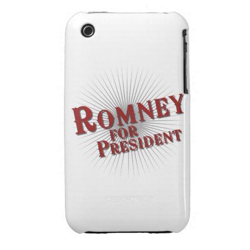 ROMNEY FOR PRESIDENT (Burst) iPhone 3 Case-Mate Cases