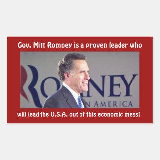 Romney for President Proven Leader Photo Sticker