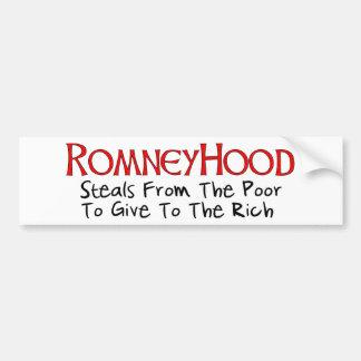 Romney Hood Bumper Sticker