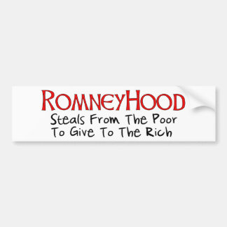 Romney Hood Car Bumper Sticker