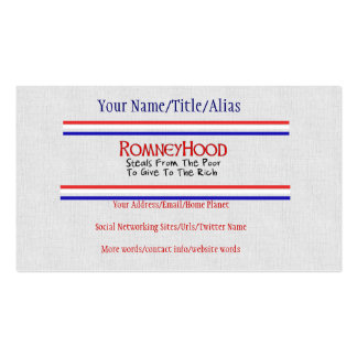 Romney Hood Business Card Templates