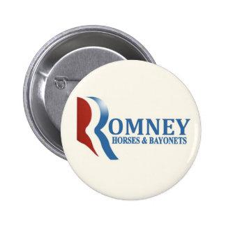 Romney: Horses & Bayonets 6 Cm Round Badge