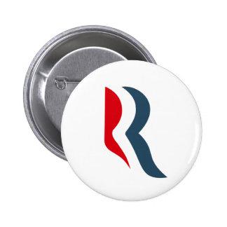 Romney icon 6 cm round badge