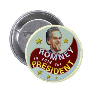 Romney in 2012 6 cm round badge