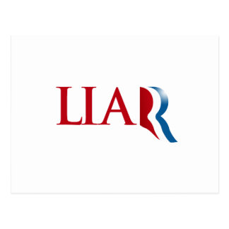 Romney is a Liar Post Cards