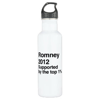 Romney is supported by the top one percent.png 710 ml water bottle