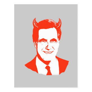 Romney is the Devil Post Card