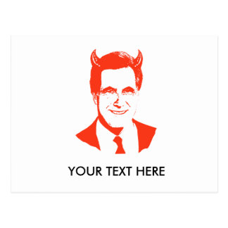 Romney is the Devil Post Cards
