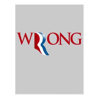 Romney is Wrong Postcard