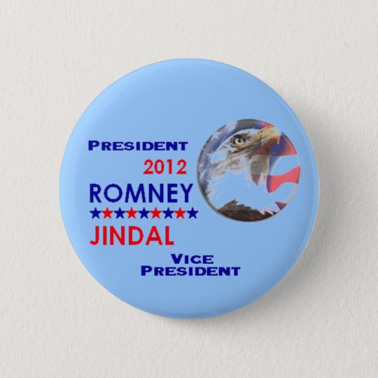 ROMNEY & JINDAL 2012 Button