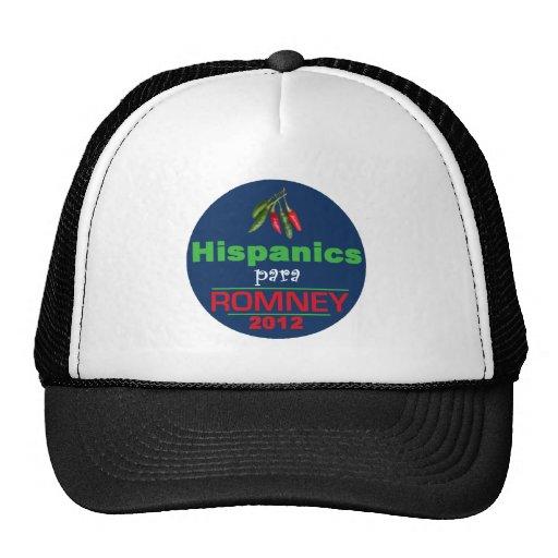 Romney Latinos Trucker Hats