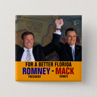 Romney-Mack 2012 15 Cm Square Badge