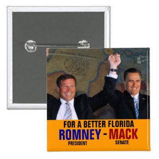 Romney-Mack 2012 15 Cm Square Badge