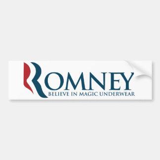 Romney Magic Underwear Bumper Sticker