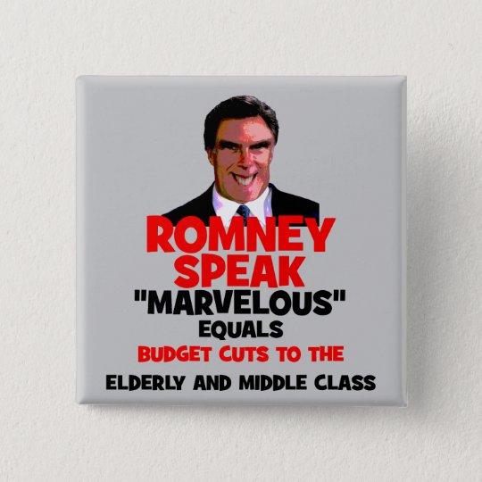 Romney marvellous 15 cm square badge