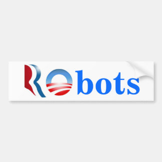 Romney Obama Robots Bumper Stickers