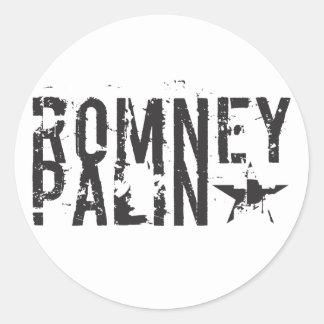 Romney Palin Round Stickers