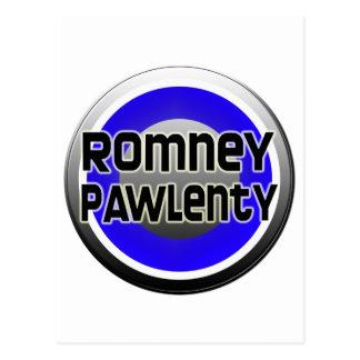 Romney Pawlenty 2012 Postcard