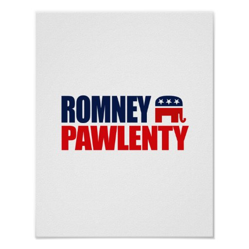 ROMNEY PAWLENTY TICKET 2012.png Posters