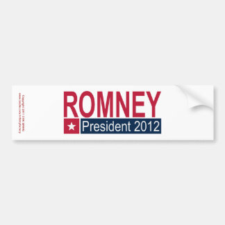 Romney President 2012 Car Bumper Sticker