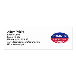 Romney President 2012 Business Card Template