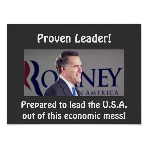 """Romney Proven Leader Photo Poster 16""""x12"""""""