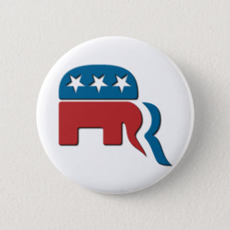 Romney Republican Party Election Logo by Fontico 6 Cm Round Badge