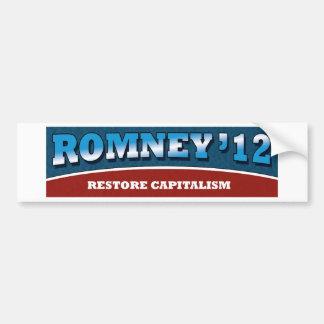 Romney- Restore Capitalism Bumper Sticker