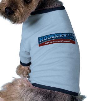 Romney- Restore Capitalism Dog T Shirt