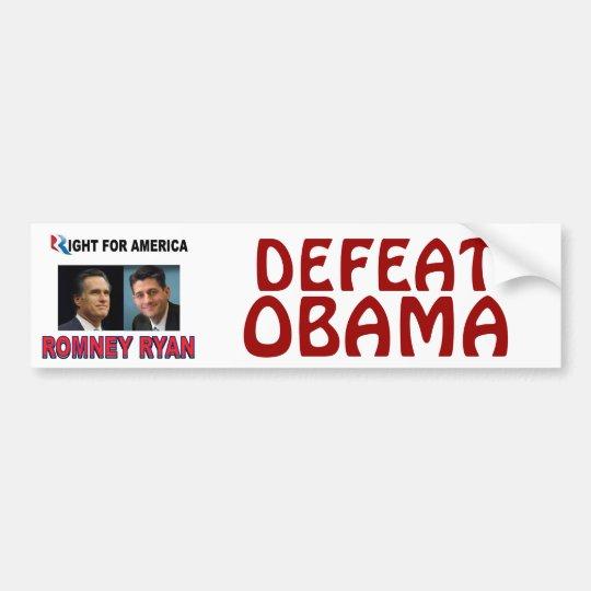 ROMNEY RIGHT.jpg Bumper Sticker