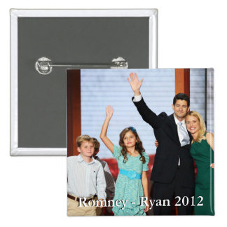Romney-Ryan 2012!!! 15 Cm Square Badge